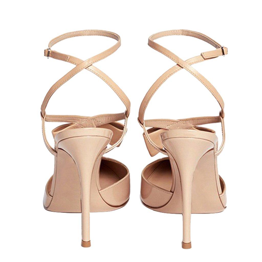 BAI Donna's Tallone Sandali Dell'alto Tallone Donna's Tip Toe Chiusura Girl Party Tacchi Alti Color Nudo Altezza Tacco 6CM-8 Cm),Nudecolor,37 Nudecolor 712f2b