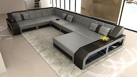 XXL Conjunto de Muebles Para Salón MATERA XXL Gris-negro ...