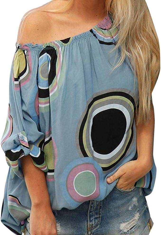 Asymmetrisch Tops Bluse Gänseblümchen-Print Freizeit Strand Boho Damen
