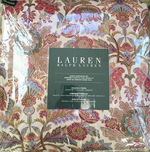 Amazon Com Ralph Lauren Queen Comforter Set 3 Pieces Set Red