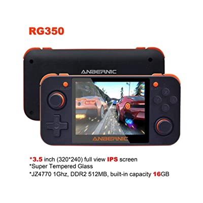 "biliten RG350 IPS Retro Games Console, 3.5"" IPS Screen Upgrade Game Console Handheld Game Console: Home & Kitchen"