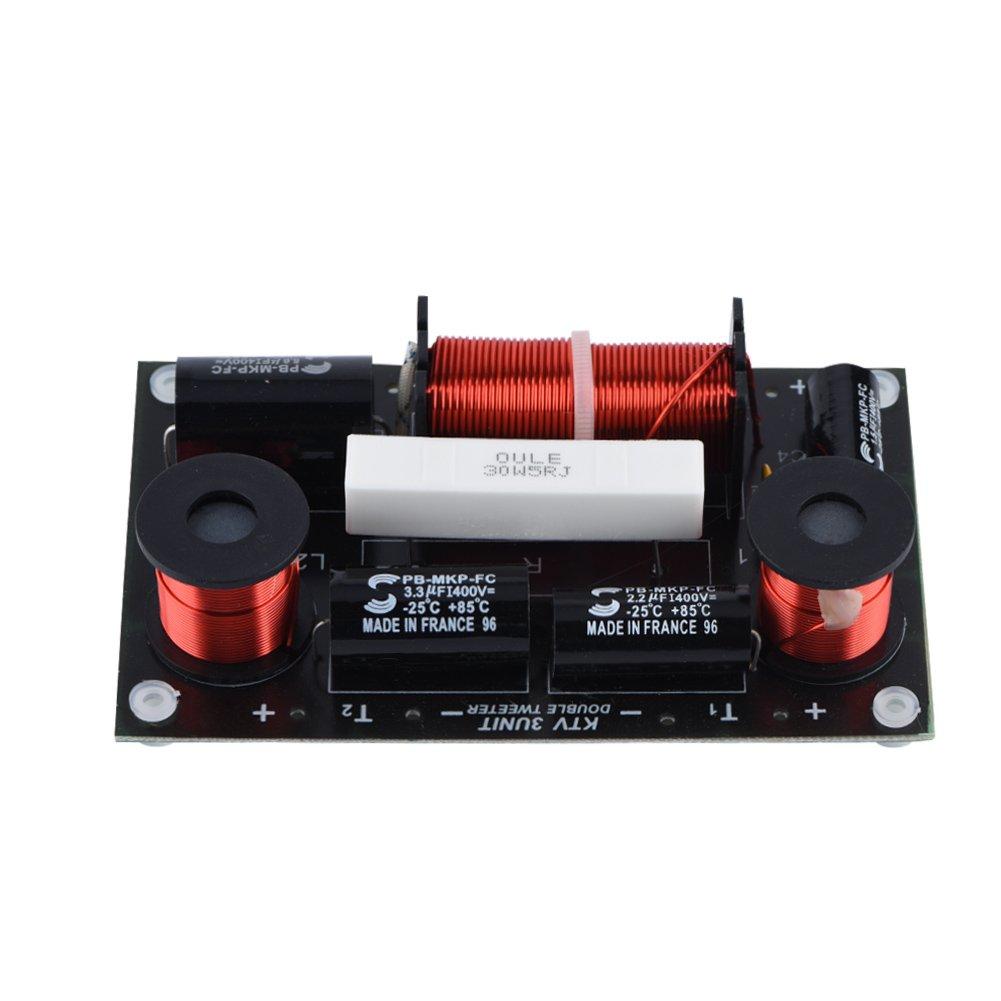 Zerone Haut-Parleur Fré quence Diviseur Conseil Double Tweeter 1 Woofer 3 Voies Hi-FI Audio Crossover Filtre Sonore Distributeur de Fré quence Module DIY