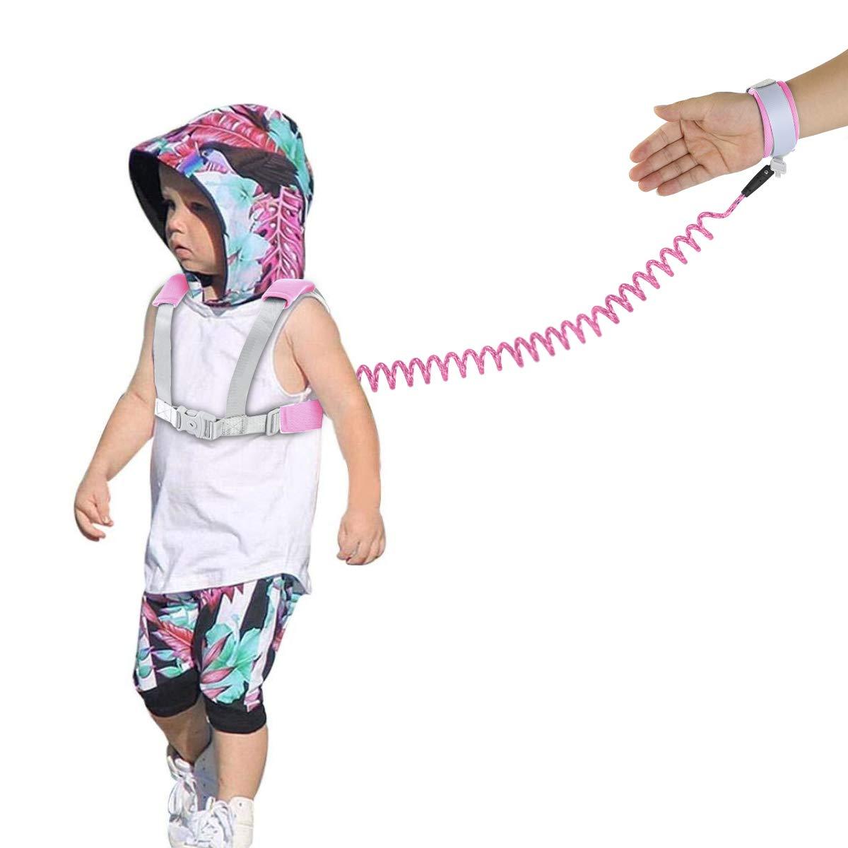 Rosa Sicherheitsarmband f/ür Kinder mit reflektierendem Band zum Laufen Anti-Verlust-Geschirr f/ür Babys Baby-Leine Yudanny Yudanny Handgelenkschlaufe f/ür Kleinkinder