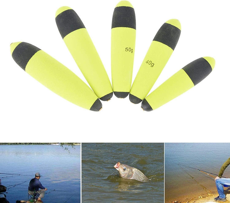 Wifreo 12pcs 15g 20g 30g Buoyancy EVA Inline Bobber Float Saltwater For Fishing