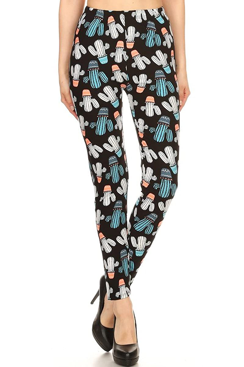 62597d4c880 Amazon.com  Leggings Depot Women s Buttery Soft Classic Fashion Print  Leggings BAT4  Clothing