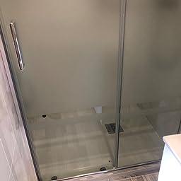 Mampara de Ducha MODULAR Frontal Sencilla - 1 Hoja FIJA + 1 Hoja CORREDERA. Con Tratamiento EASY-CLEAN. (90 cm, SERIGRAFIADA): Amazon.es: Bricolaje y herramientas