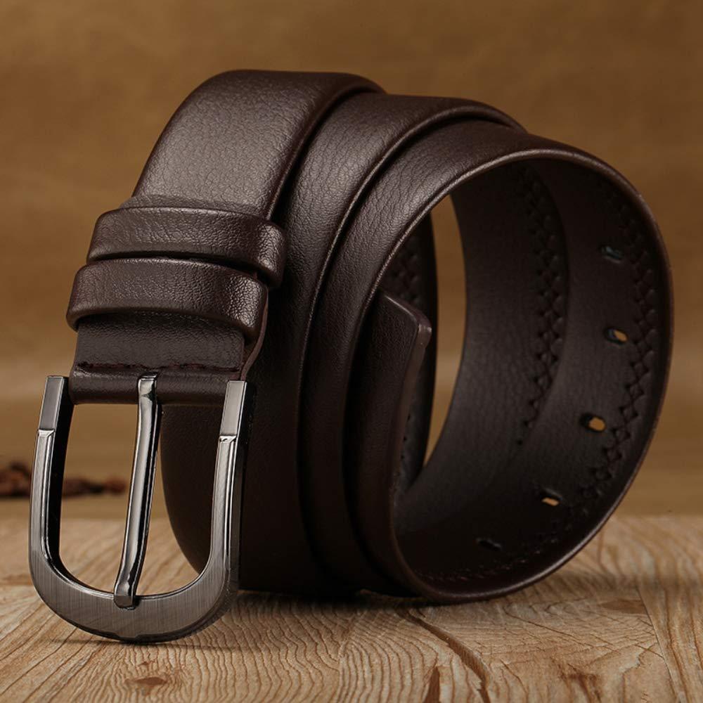 FANCO Cintura ultra morbida in PU per uomo misura 30-44 marrone-1