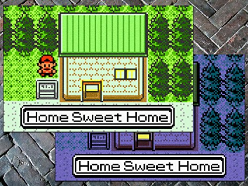 Pokemon  Gen Ii    Home Sweet Home    Doormat Welcome Floormat  24  X 36   Day