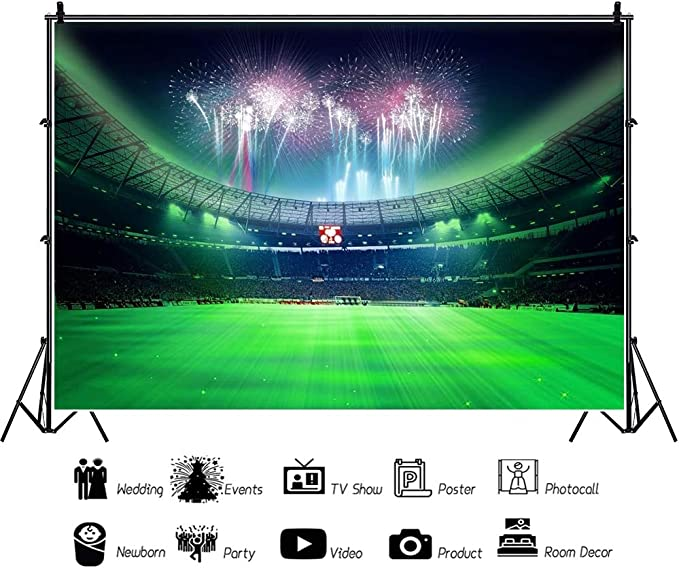 Oerju 3x2m Sport Hintergrund Fußball Grüne Rasenfläche Kamera