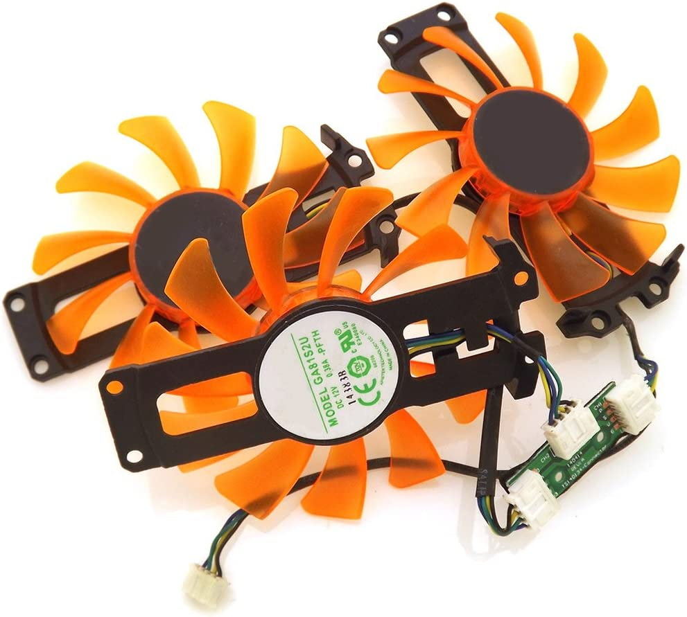 3pcs//lot GA81S2U 12V 0.38A 4Wire 4Pin VGA Fan For ZOTAC Cooling Fan 3pcs//lot