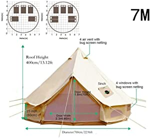 The best 4 season tent Happybuy Bell Tent 10-12 Persons Canvas Tent