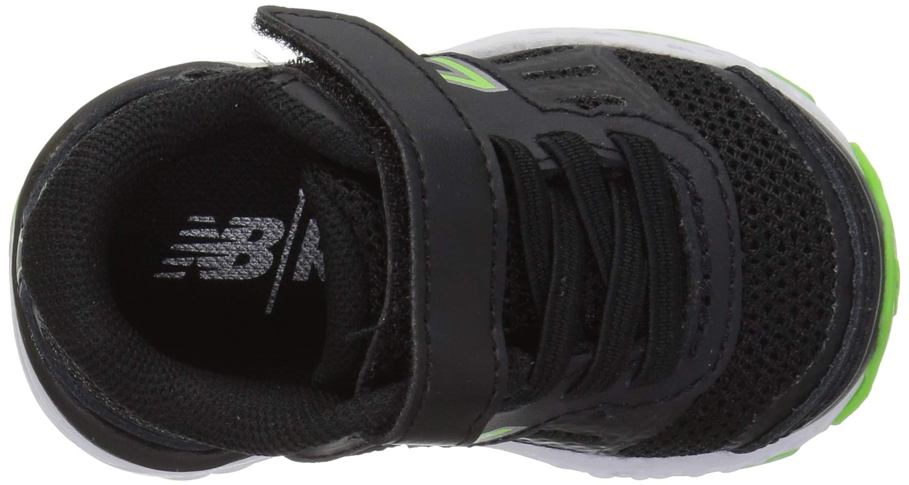 New Balance Boys' 680v5 Hook and Loop Running Shoe Black/RBG Green 2 M US Infant by New Balance (Image #8)