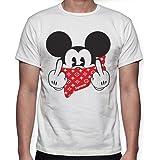 Beimpress T-Shirt Maglia Mouse Bandana - Replica Supreme - Uomo Donna Unisex - Bianca