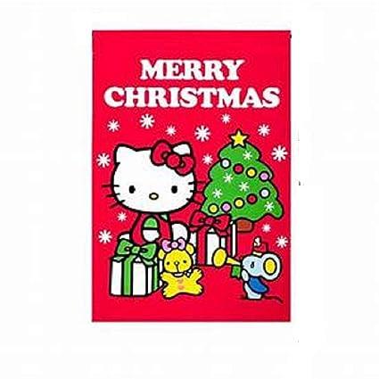 Hello Kitty Merry Christmas.Hello Kitty Merry Christmas House Flag 28 X 40