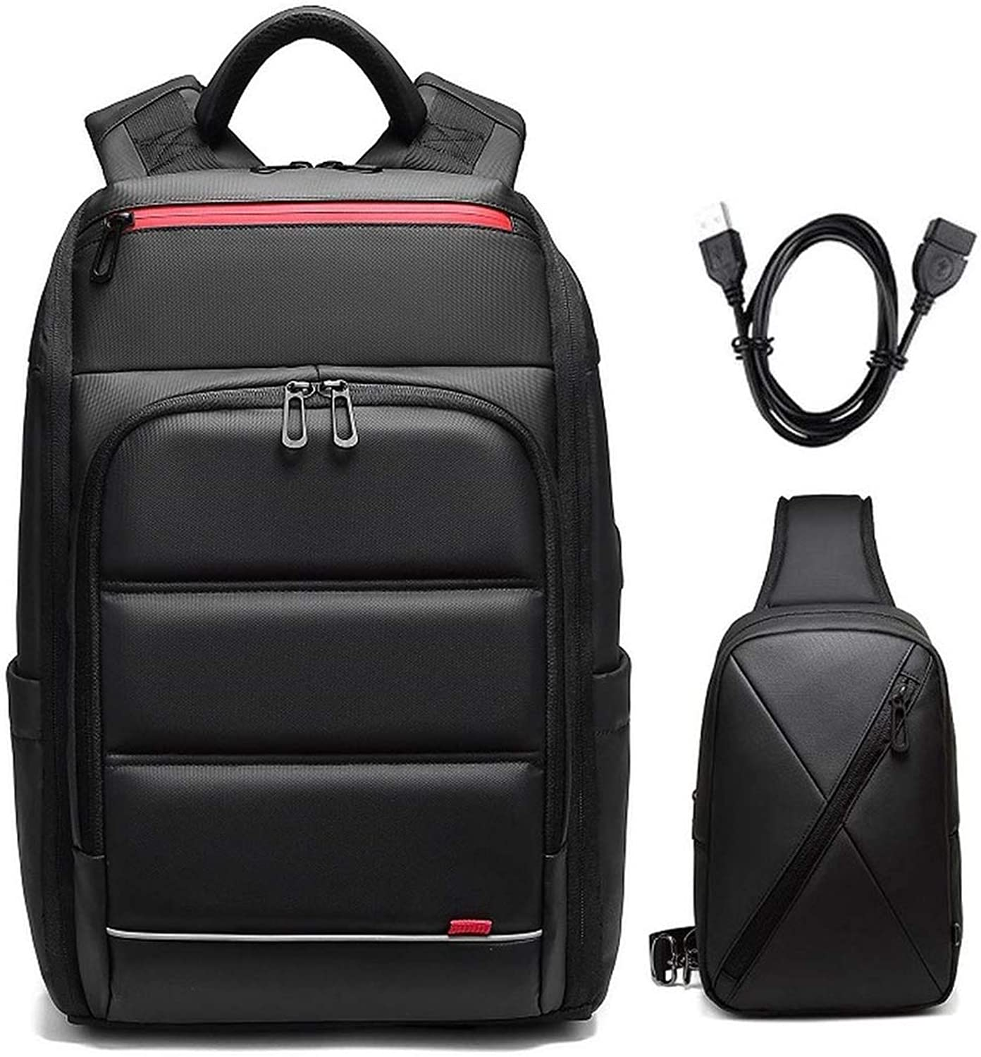 Men Wateroof 15.6 Inch Shockproof Busis Laptop School Bags With Usb Charging Port Travel Backpacks