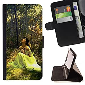 DEVIL CASE - FOR Sony Xperia m55w Z3 Compact Mini - Design Forrest Bride - Style PU Leather Case Wallet Flip Stand Flap Closure Cover