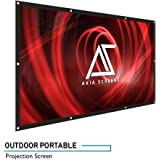 """Akia Screens 120"""" Portable Indoor/Outdoor Projector Screen, 120 inch Diagonal 16:9, 8K/4K Ultra HD 3D Ready DIY Hang Anywhere Dual FRONT and REAR Projection Screen, AK-DIYOUTDOOR120H"""