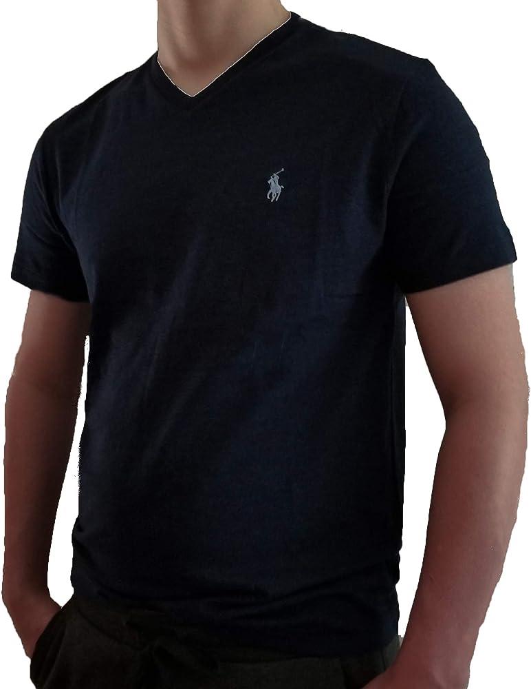 Polo Ralph Lauren mens Classic Fit V Neck Pony Logo T Shirt *MED~XLARGE* White