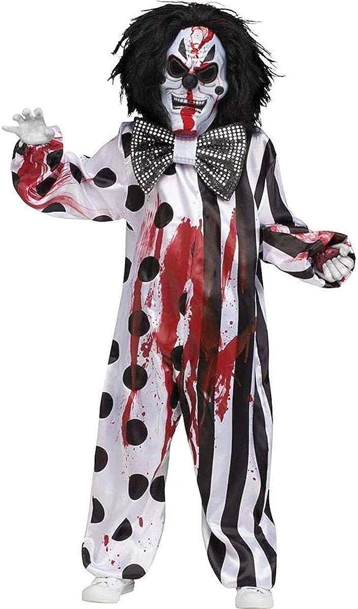 Amazon.com: Disfraz de payaso asesino para niños ...
