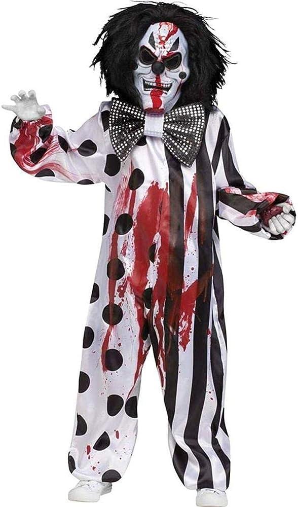 Bleeding Killer Clown Kids Costume