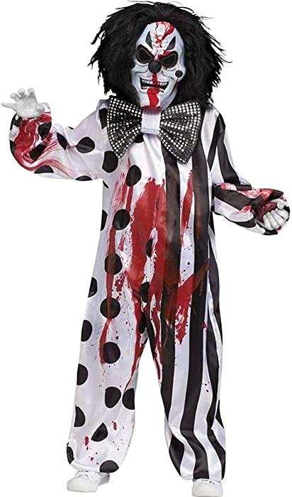 Mens Bleeding Killer Clown Costume Halloween Horror Scary Mens Fancy Dress Adult