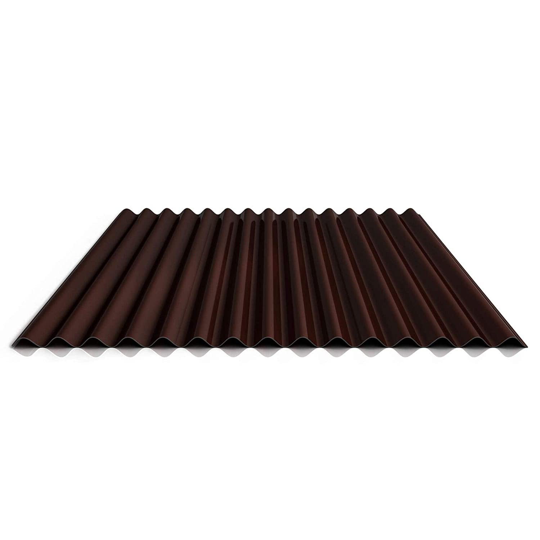 Farbe Wei/ßaluminium Wellblech Profil PS18//1064CW Beschichtung 25 /µm Material Stahl Profilblech Wandblech St/ärke 0,50 mm