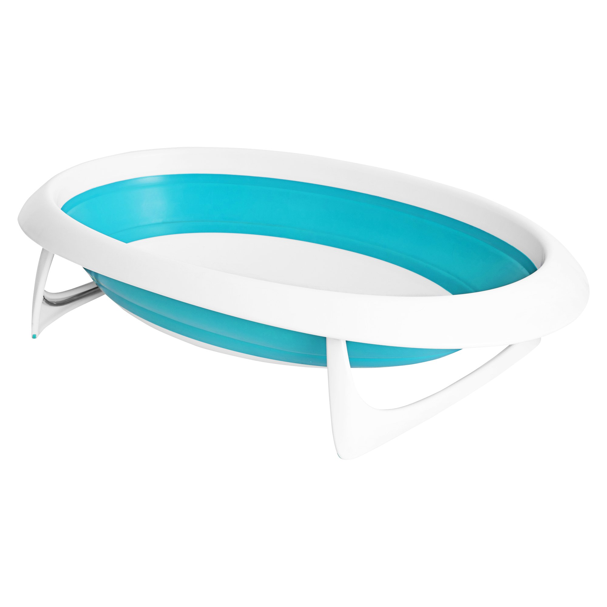 Boon Naked Collapsible Baby Bathtub Blue,Blue/White by Boon (Image #1)