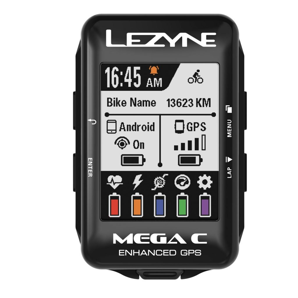 LEZYNE Mega C GPS Bike Computer Black by LEZYNE