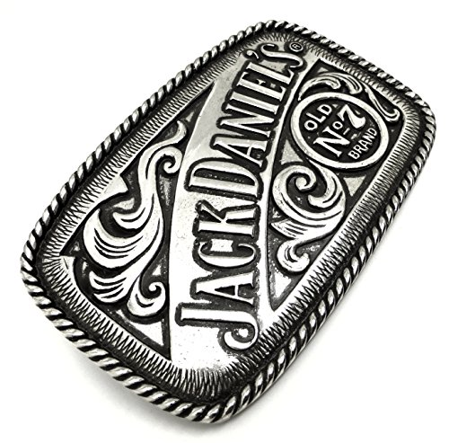 Westlichen Rodeo Stil Authentische Offiziell Lizenziertes Markenprodukt Jack Daniels G/ürtelschnalle 7 Brand Old Nr