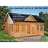 BZBCabins.com Lakeview Log Cabin Kit
