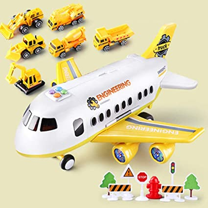 XUMN Decoración del hogar Transporte Aviones Simulación Carrito de fundición a presión/Modelo Enlighten Toy