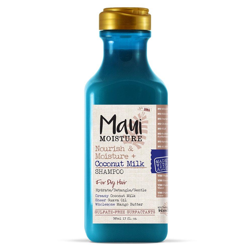 Maui Moisture Nourish & Moisture + Coconut Milk Shampoo, For Dry Hair, 13 Oz