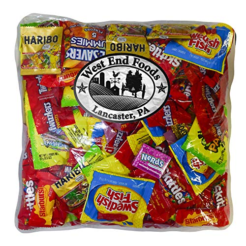 Candy Treats (3 pounds) of Individually Wrapped Candy: Life Savers, Skittles, Starburst, Swedish Fish, Twizzlers, Nerds, Sour Patch -