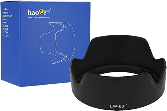 Haoge Bayonet Lens Hood for Canon EF-M 18-150mm f3.5-6.3 is STM Lens Replaces Canon EW-60F