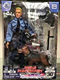 """Click N Play Police Force Unit, Officer with Dog 12"""" Action Figure Play Set with Accessories."""
