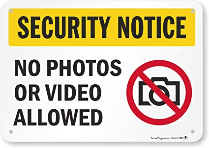 photo about Video Surveillance Signs Printable named \