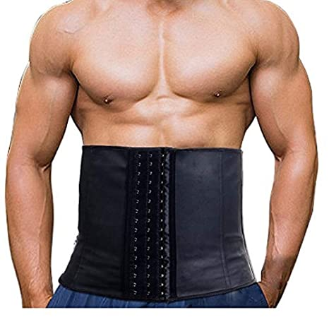e42861937d7b7 Imurz Men s Tummy Control Steel Boned Waist Trainer Workout Sport Shapewear  (Black