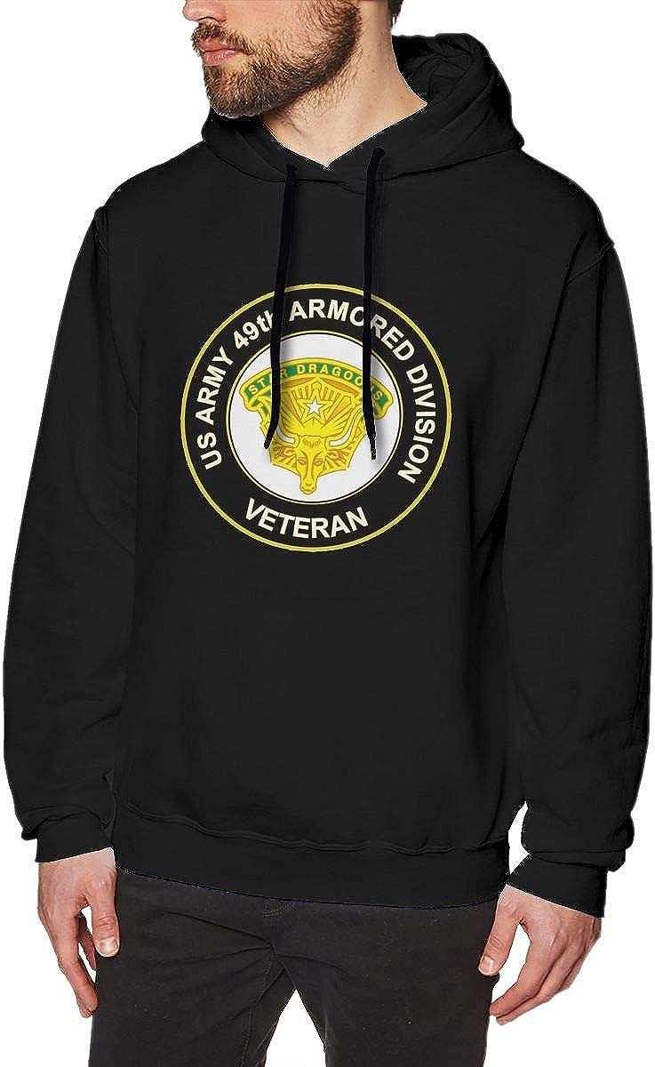 U.S Army 49th Armored Division Veteran Mens Pullover Hooded Sweatshirt Long Sleeve Hoodies