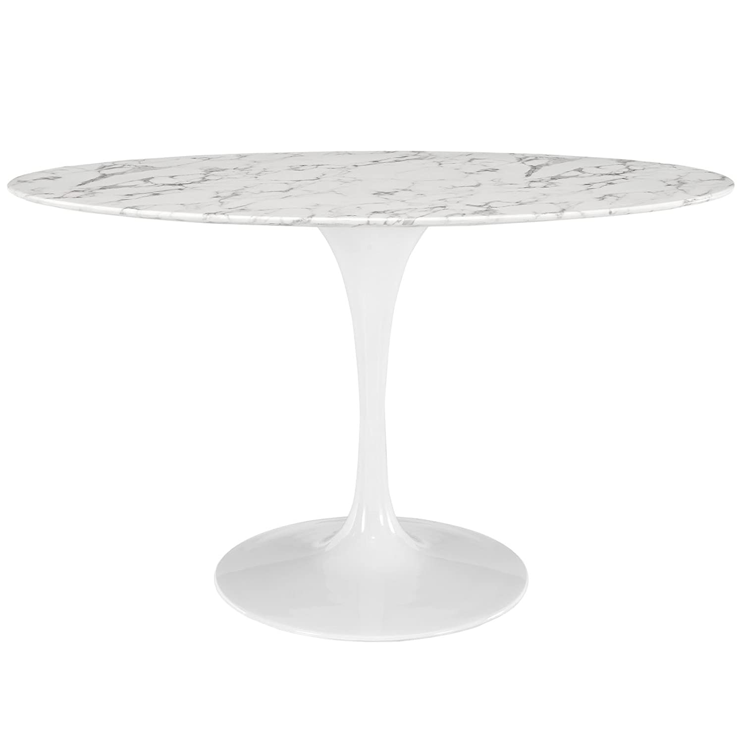Amazoncom Modway Lippa  OvalShaped Artificial Marble Dining - Oval marble dining table