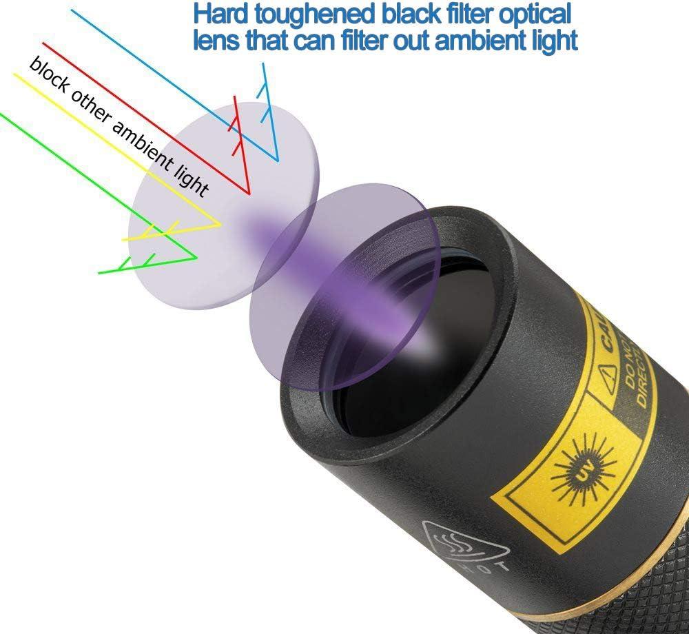 18650 bater/ía incluida Alonefire SV003 10W 365nm linterna UV port/átil recargable linterna escorpi/ón para mascotas orina detector mineral con carcasa de aluminio cargador