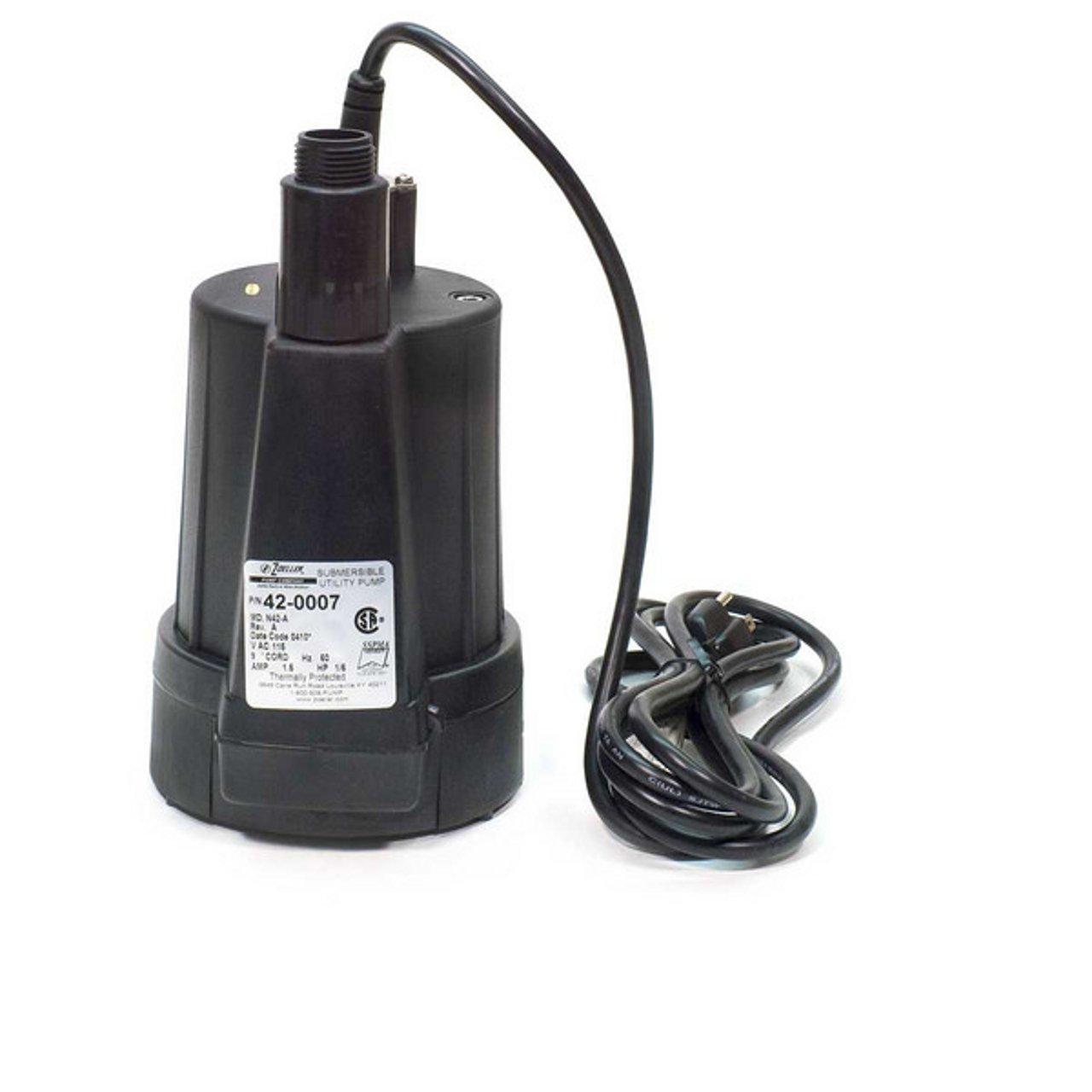 Zoeller 42-0007 115-Volt 1/6 Horse Power Model N42 Floor Sucker Non-Automatic Utility Pump
