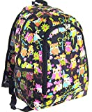Owl Print 16'' Backpack School Travel Teen Girls Dance Cheer Diaper Bag