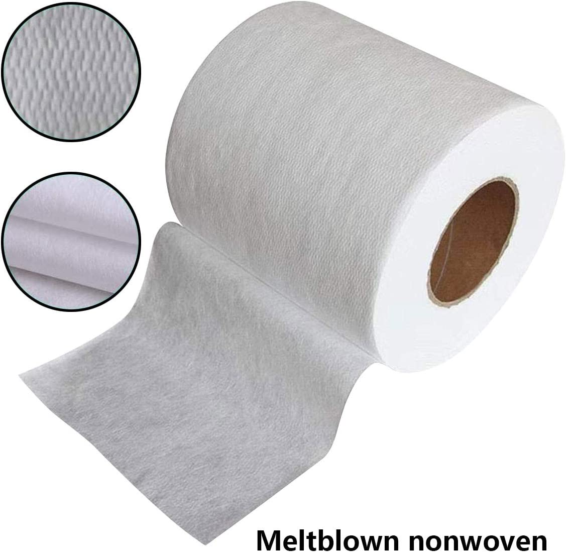 50M Filtering Efficiency Greater Than 95/% Non-Woven Fabric Melt-Blown Cloth Disposable Middle Layer Filter Microfiber Fabric Polypropylene Sediment Filters for Filtering