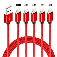Deals on 5-Pack Firsting MFi Certified iPhone Charger Lightning Cable