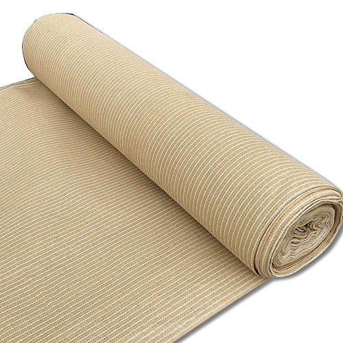 Alion Home 180 GSM Sunblock Shade Fabric Roll, 95% UV Block Breathable Mesh for Patio, Pergola, Greenhouse, Barn (6' x 50', Beige) by Alion Home