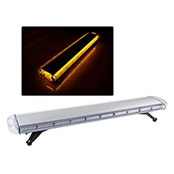 Amazon 88 led amber 47 inch 15 modes roof top beacon emergency 88 led amber 47quot inch 15 modes roof top beacon emergency strobe led light bar aloadofball Image collections