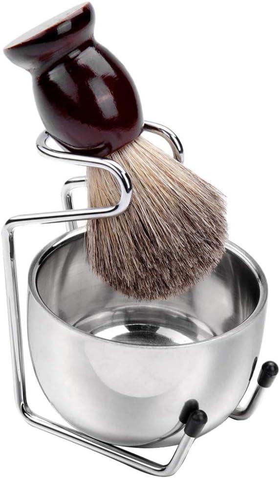 Kit de Afeitado de Brocha de Afeitar/Soporte/Cuenco de Jabón ...