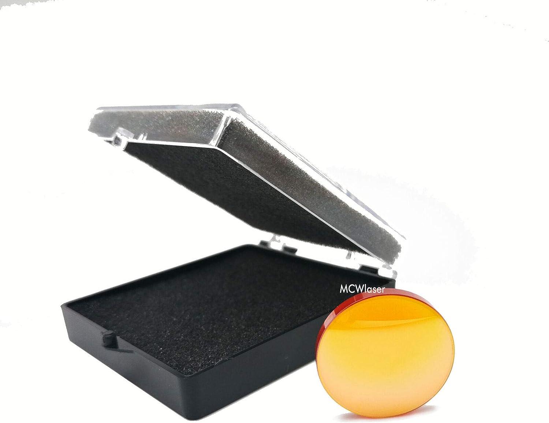 12 mm FL MCWlaser Lente de enfoque ZnSe de 12 mm para CO2 10600 nm Grabador//cortador l/áser de 10.6um MCWlaser Di/ámetro 2o 50.8 mm