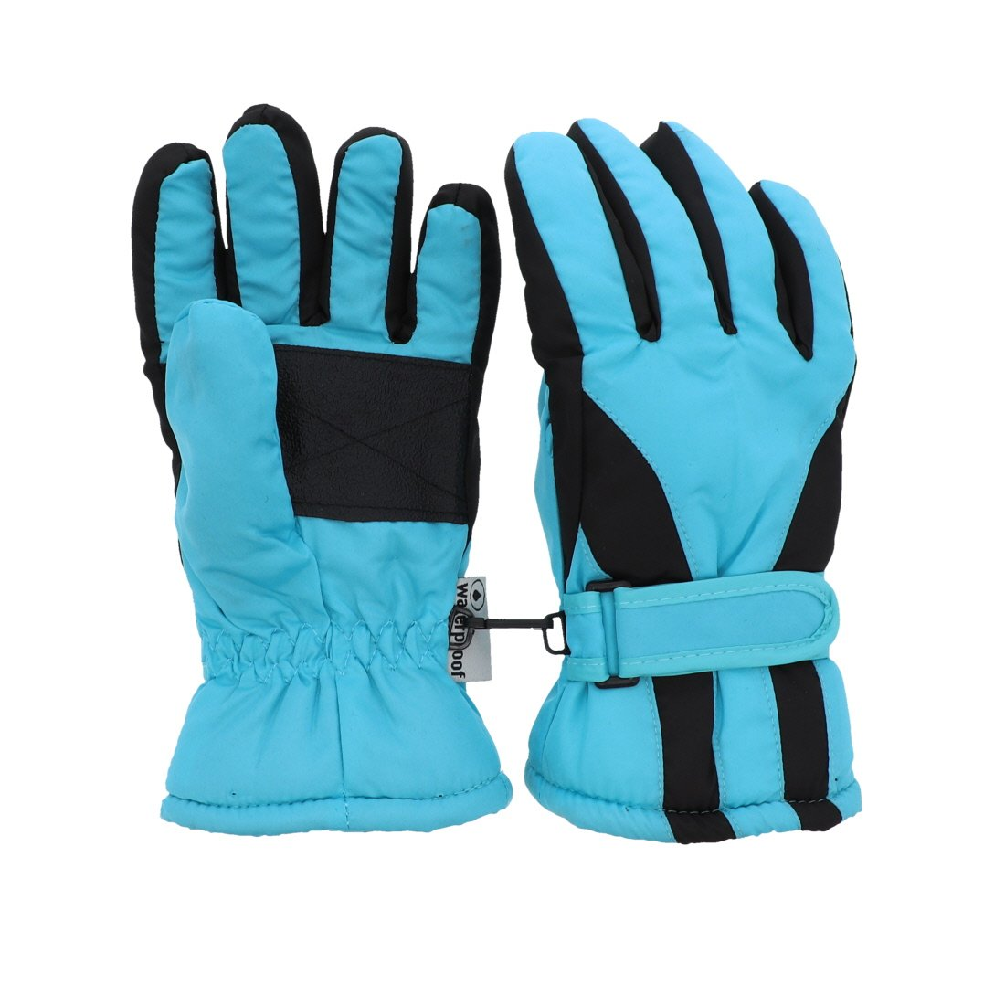 Waterproof Slant Design Ski Gloves for Youth - Red MTGL0053RD