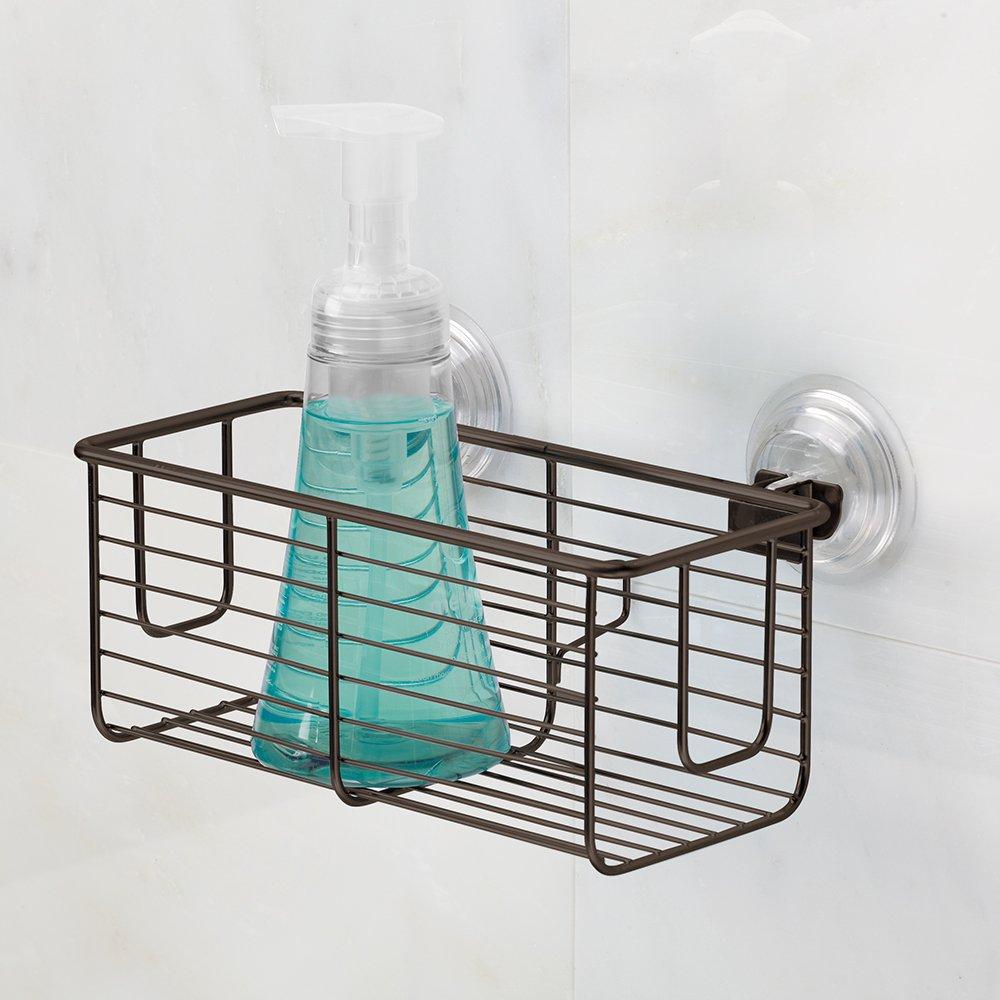 Amazon.com: InterDesign Classico Suction Bathroom Shower Caddy ...